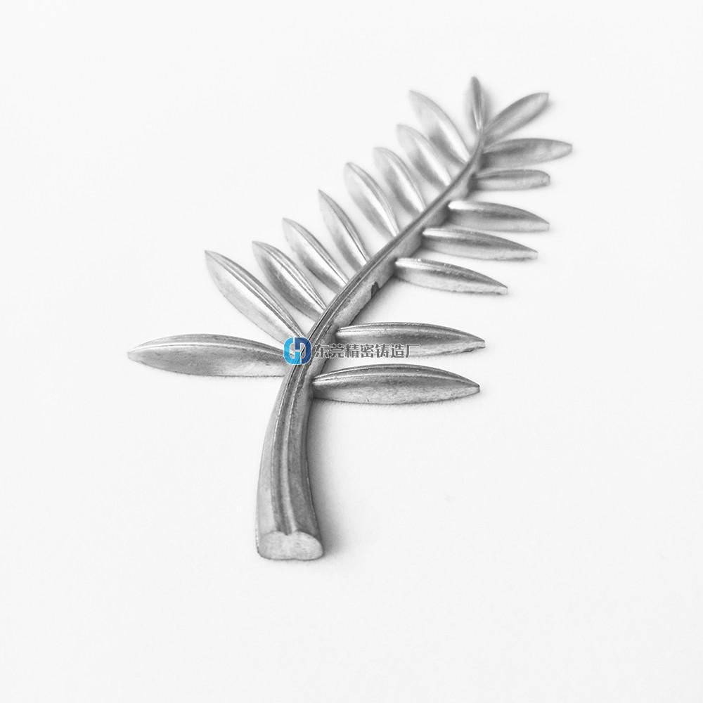 铸铝件加工 铸铝树叶胸针